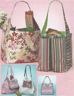 PATTERN Quilt Tote Bag Fabric Purse Grocery Shopping Bag UNC
