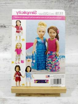 """Simplicity Patterns 18""""-Inch US1178OS Modern Clothes for Dol"""