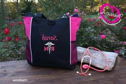 Personalized Nursing tote bag nurse caduceus RN CNA LPN MD B