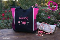 Personalized Nursing tote bag nurse RN CNA LPN MD BSN stetho