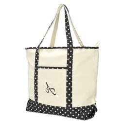 DALIX Personalized Shopping Tote Bag Monogram Black Star Ini