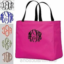 Personalized Tote Bag Monogram Bride Bridesmaid Gift Bridal