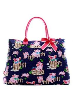 Pig Farm Barn Pink NGIL® Quilted Purse Overnight/Large Tote