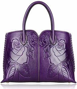 PIJUSHI Designer Floral Purse Women's Handbags Top Handle Sa