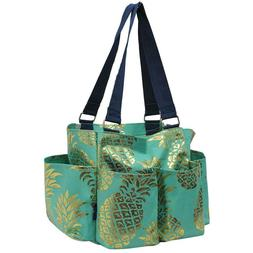 Pineapple Gold/Mint NGIL Small Zippered canvas purse Caddy O
