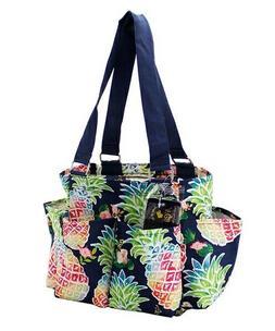 Pineapple NGIL Small Zippered canvas purse Caddy Organizer T