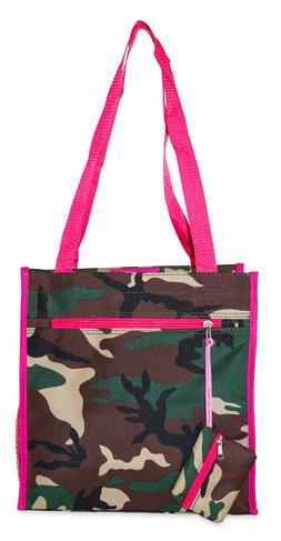 Pink Camo Womens Small Tote Bag Handbag Purse for Travel Wor