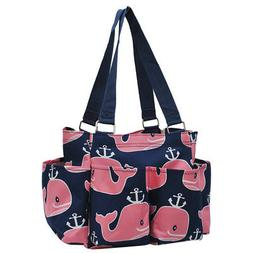 Pink Whale NGIL® Small Zippered Caddy Organizer Tote Bag