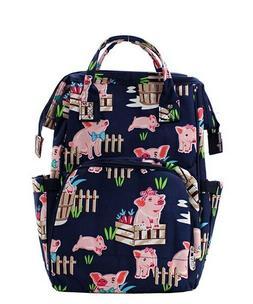 Playful Pigs Barn Farm NGIL Diaper Bag Backpack Free Ship! N