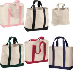 Port & Company 2 Tone Shopping Tote Bag. B400