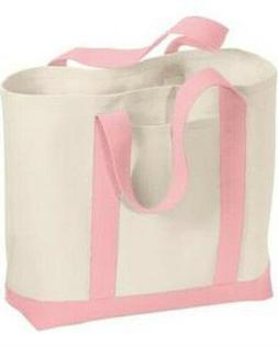 Port & Company B400 Tote Bag Ladies 2-Tone Shopping Tote NEW