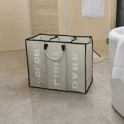 Portable Cloths Hamper Basket Dirty Clean Storage Tote Laund