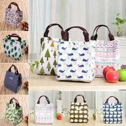 Portable Lunch Bags Insulated Canvas Box Tote Bag Thermal Co