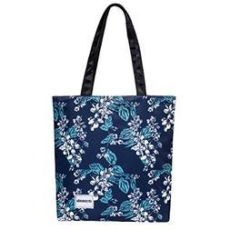 Floral Tote Bag Shoulder Bags For Women Nylon Messenger Bag