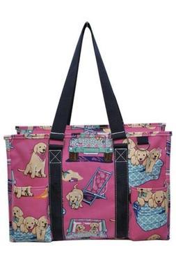 Puppy Days Print NGIL Medium Large Zippered Caddy Organizer