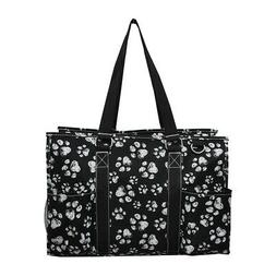 Puppy Paw Print NGIL® Zippered Caddy Organizer Tote Bag