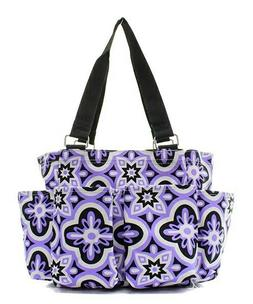 Purple Vine NGIL Small Zippered Caddy Organizer Tote Bag Fre