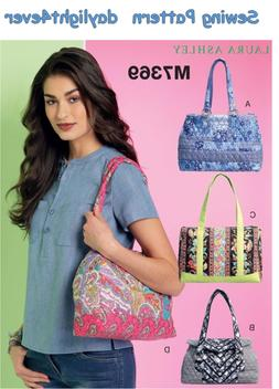 Purse 4 Styles Large Banded Tote Bag Sewing Pattern 7369 McC