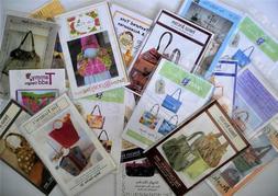 Purse Handbag Tote Bag Sewing Patterns, YOU CHOOSE