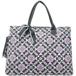 NGIL Quilted Cotton Extra Large Overnight School Tote Bag 20
