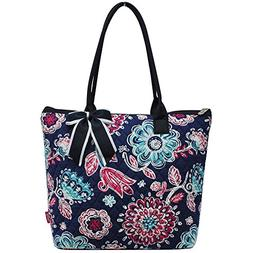 Ngil Quilted Cotton Medium Tote Bag 2018 Spring Collection