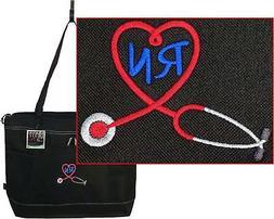 Registered Nurse RN Stethoscope Heart Gemline Select Zippere