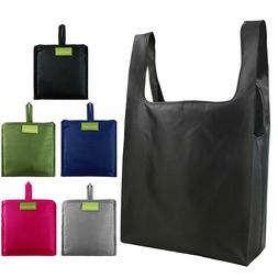 Reusable Bags Set of 5,Grocery Tote Foldable into Attached P