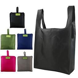 Reusable Bags Set of 5, Grocery Tote Foldable into Attached