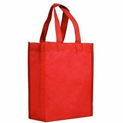 Reusable Gift/Party Lunch Tote Bags - 25 Pack Red Grocery Ki