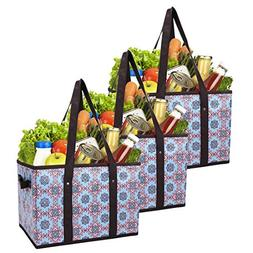 Foraineam Reusable Grocery Bags Set Durable Heavy Duty Tote