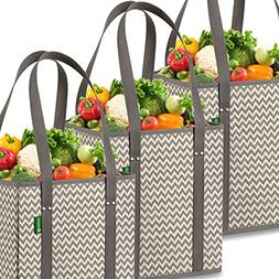 Reusable Grocery Shopping Box Bags . Stylish, Premium Qualit