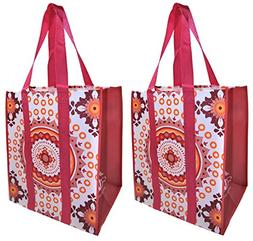 Reusable Grocery Shopping Bags - Premium Heavy Duty Wipe-cle