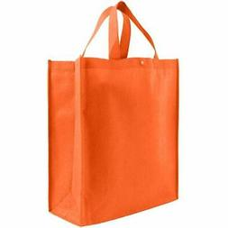 Reusable Grocery Tote Bag Bags Large 10 Pack - Orange Kitche