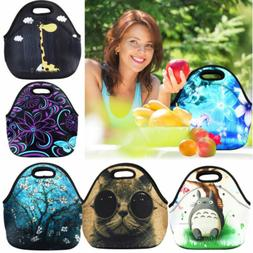 Reusable Neoprene Lunch Bag Insulated Lunch Tote Soft Bento