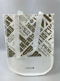 Lululemon Reusable Shopping Bag Small Gold Manifesto Tote Ca
