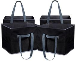 Reusable Shopping Cube Grocery Bag - These Sturdy Tote Bags