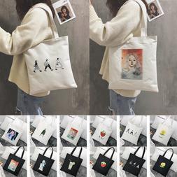 Reusable Shopping <font><b>Bag</b></font> Fashion Women Canv