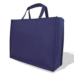 """DALIX 20"""" Extra Large Reuseable Shopping Grocery Tote With Z"""