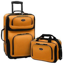 Rio Carry-on Yellow Lightweight Expandable Rolling Suitcase