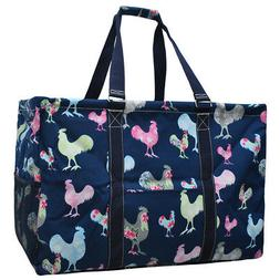 rooster mega shopping utility tote bag