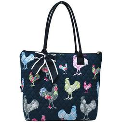 Rooster NGIL® Quilted Large Ribbon Tote Bag