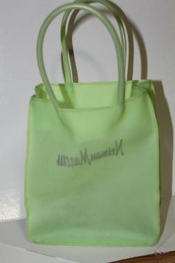 Neiman marcus Rubber green small Tote Bag