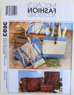 McCalls 3693 Duffel Bag Make Up Case Tote Bag Eyeglass Case