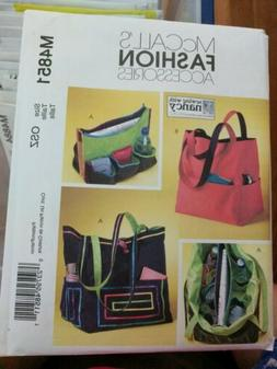 McCalls M4851 Sewing Pattern Tote  Bag with Inner Organizer