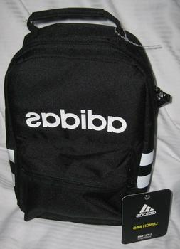 ADIDAS SANTIAGO Black with white stripe  Lunch Box Insulated