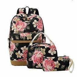 """BLUBOON School Set Teen Girls Bookbags 15"""" Laptop Backpack K"""