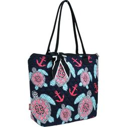 Sea Turtle Anchor Beach NGIL® Quilted Purse Tote Bag Free S