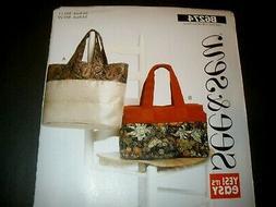 See & Sew Pattern 6274 Tote Bag  Purse Handbag Bag  UC