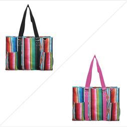 Serape NGIL® Large Zippered Caddy Organizer Tote Bag