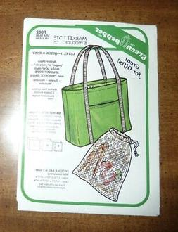 GREEN PEPPER SEWING PATTERN #F882 *MARKET TOTE & PRODUCE BAG